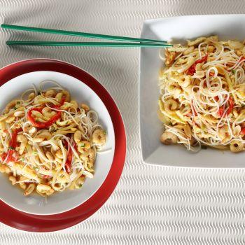 Noodles με γαρίδες και αυγό