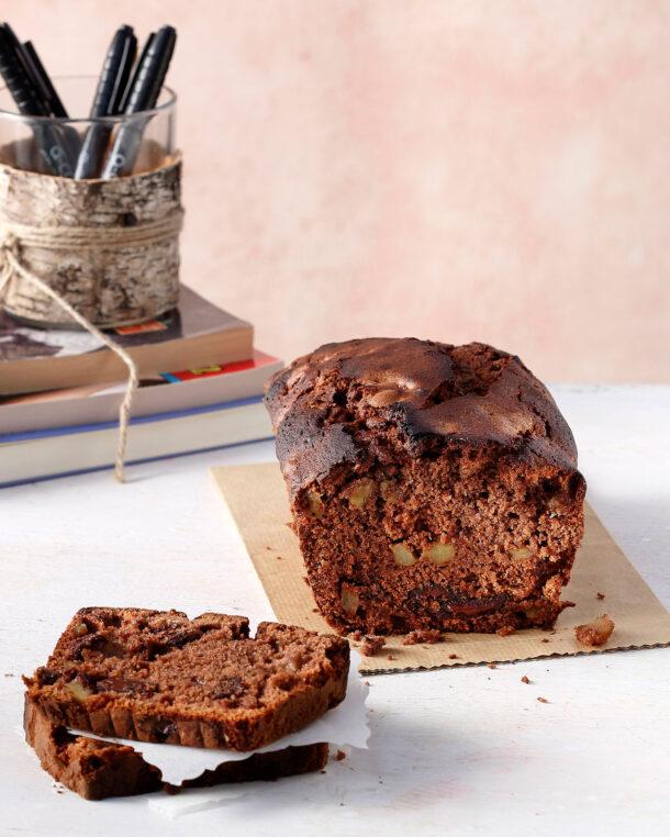 Κέικ σοκολάτας με μήλο