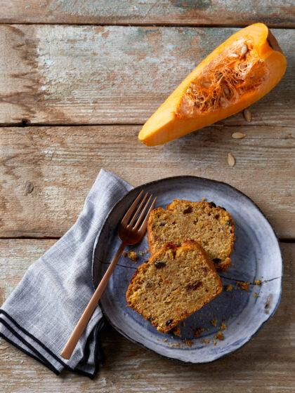νηστίσιμο κέικ με κολοκύθα κίτρινη, κέικ κολοκύθας