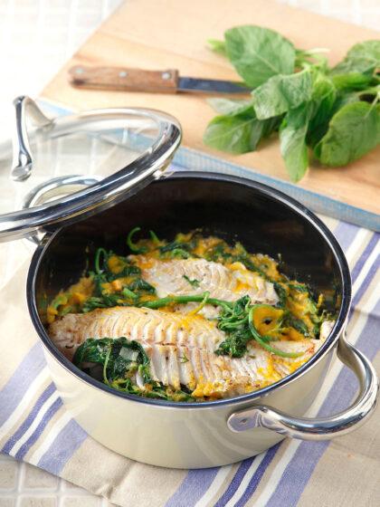 Ψάρι με βλίτα μαγειρευτά και μοσχομυρωδάτα
