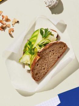 σάντουιτς με κολοκυθάκια και αβοκάντο συνταγή