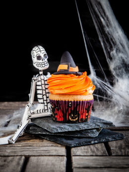 Halloween cupcakes με κολοκύθα